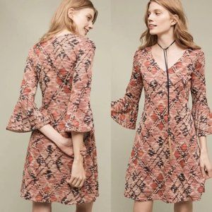 Anthropologie Erina Bell Sleeve Sweater Dress XS